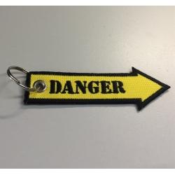 Portachiavi Freccia Danger, ricamato